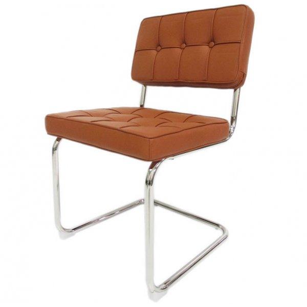 Bauhaus eetkamerstoel cognac for Bauhaus design stoelen