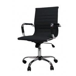 bureaustoel design zwart lage rugeleuning