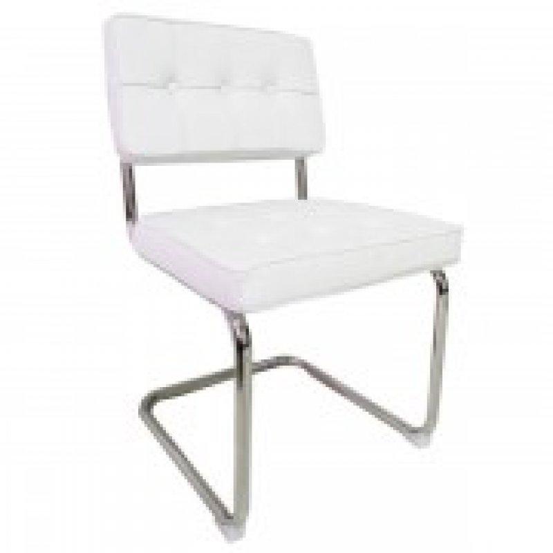 Bauhaus eetkamerstoel wit for Witte kunstof eetkamerstoelen
