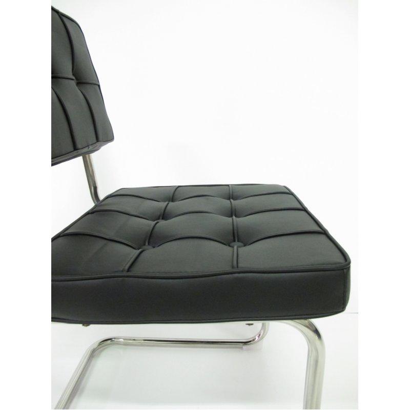 Bauhaus eetkamerstoel zwart for Bauhaus stoel leer