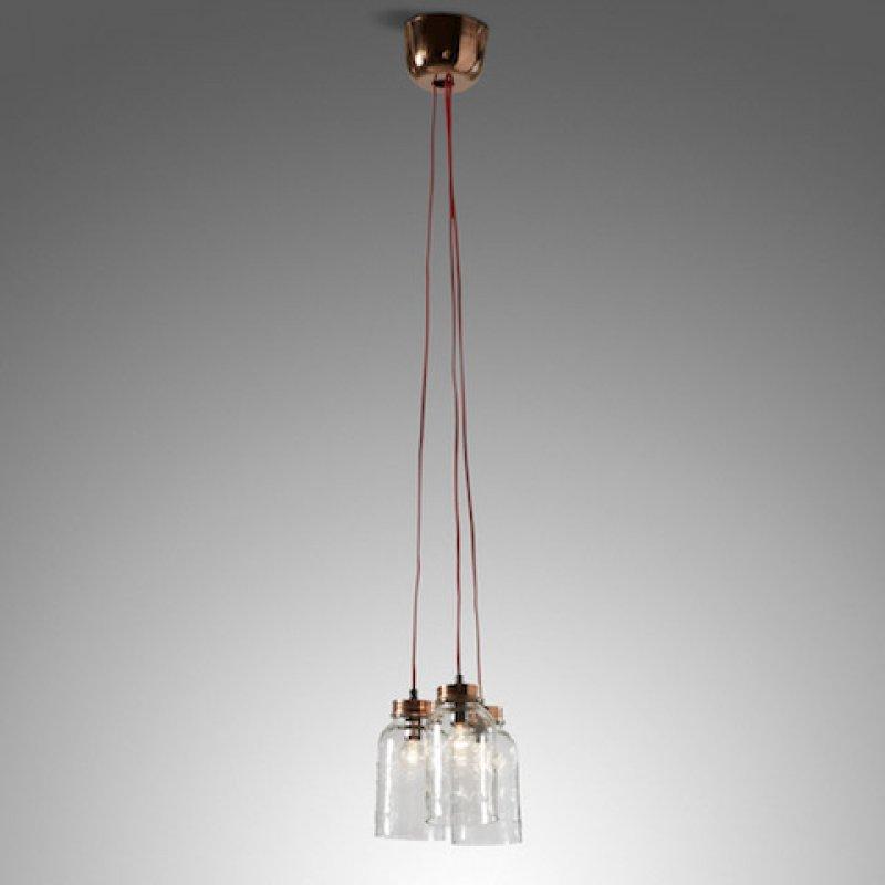 Hanglamp glazen potten - Glazen vergroting ...