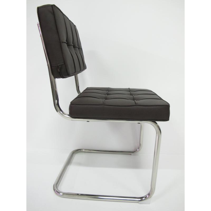Eetkamer bauhaus eetkamerstoel bruin for Bauhaus stoel leer