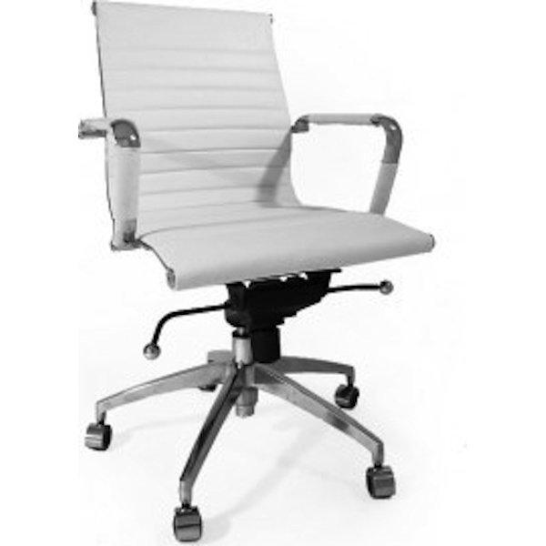 bureaustoel design 5-standen verstelling wit
