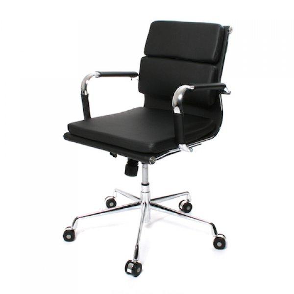 bureaustoel soft pad zwart lage rugleuning