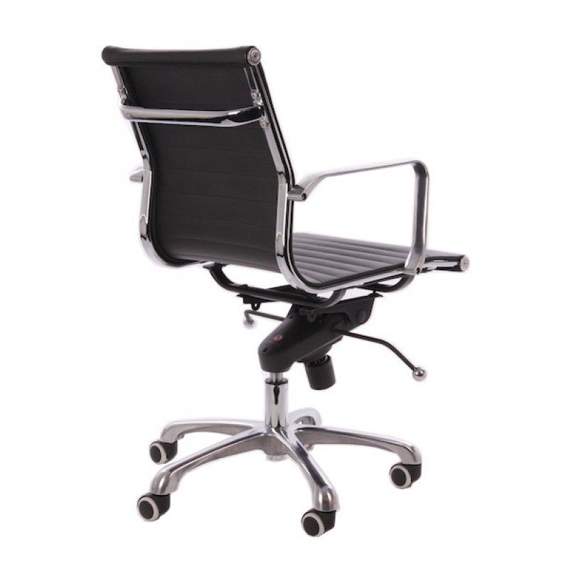 Bureaustoel Zwart Design.Bureaustoel Design Zwart Leer Lage Rugleuning