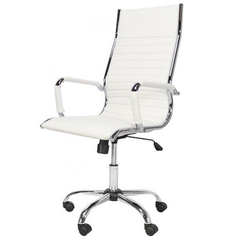 Bureaustoel Met Verstelbare Rugleuning.Bureaustoel Design Wit Hoge Rugleuning