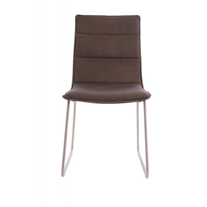 Eetkamer leren stoel bruin for Leren stoel
