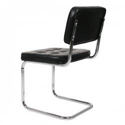 Bauhaus eetkamerstoel zwart retro