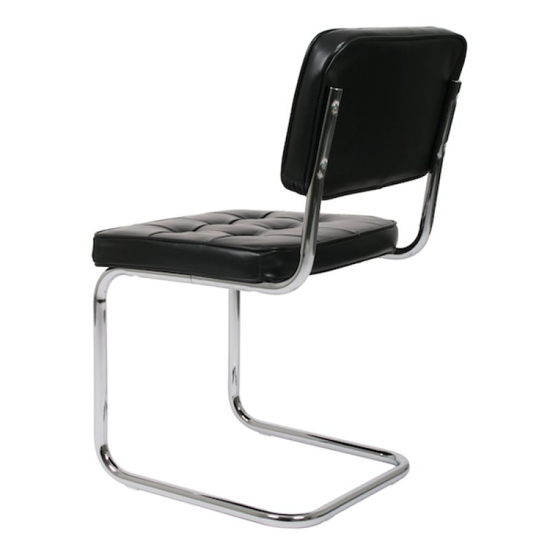 Bauhaus eetkamerstoel zwart retro for Bauhaus design stoelen