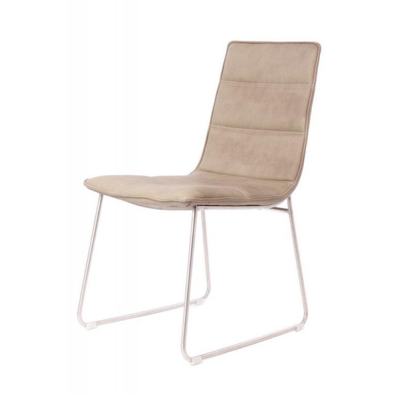 Leren stoel beige for Leren stoel