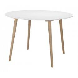 Eettafel rond 110-75 wit