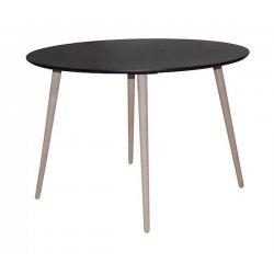 Eettafel rond 110-75 zwart