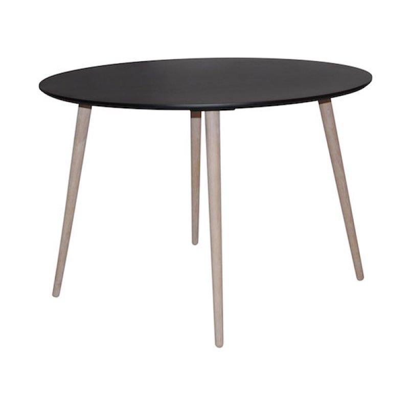 Eettafel rond 110 75 zwart for Eettafel rond