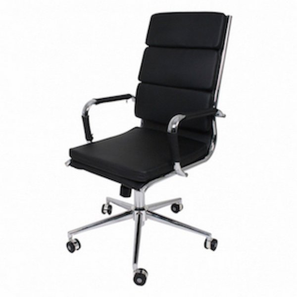 bureaustoel soft pad zwart hoge rugleuning