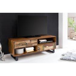 TV Lowboard 120 x 47 x 40 cm massief houten Mango Nature