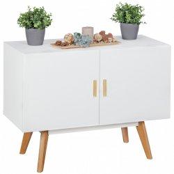 dressoir SCANIO MDF wit met 2 deuren dressoir 90 x 40 cm