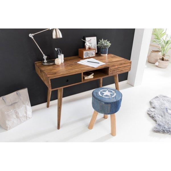 bureau REPA zwart 120 x 60 x 75 cm massief houten laptop tafel