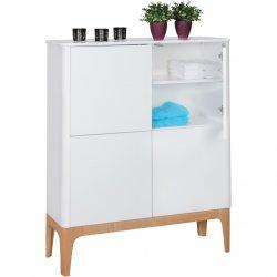 highboard SCANIO MDF houten kast met 4 deuren dressoir 110x140x40 cm