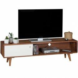 TV Lowboard  Sheesham massief hout met 1 deur 140 x 40 x 35 cm