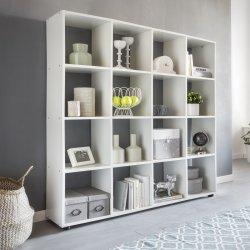 Design boekenrek met 16 vakken 138 x 142 x 29 cm