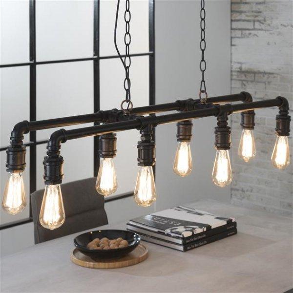 Hanglamp Tubo 8 lampen